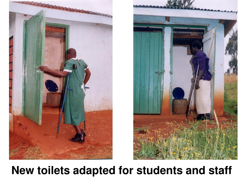 New toilets adapted