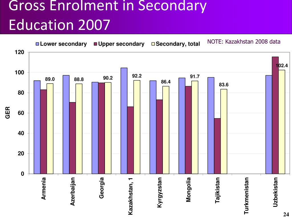 Gross Enrolment in Secondary Education 2007