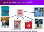 how are global data reported
