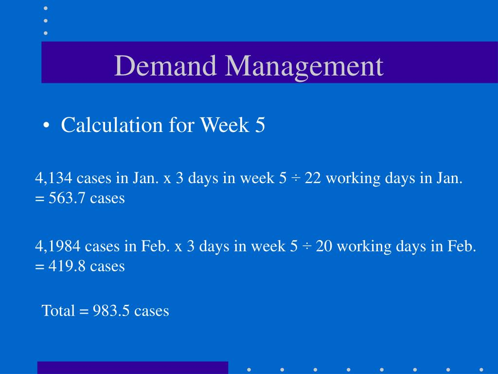 how are demand management and production Integrated planning involves the balancing of supply and demand to answer  demand management  putting it all together in building a production scheduling.