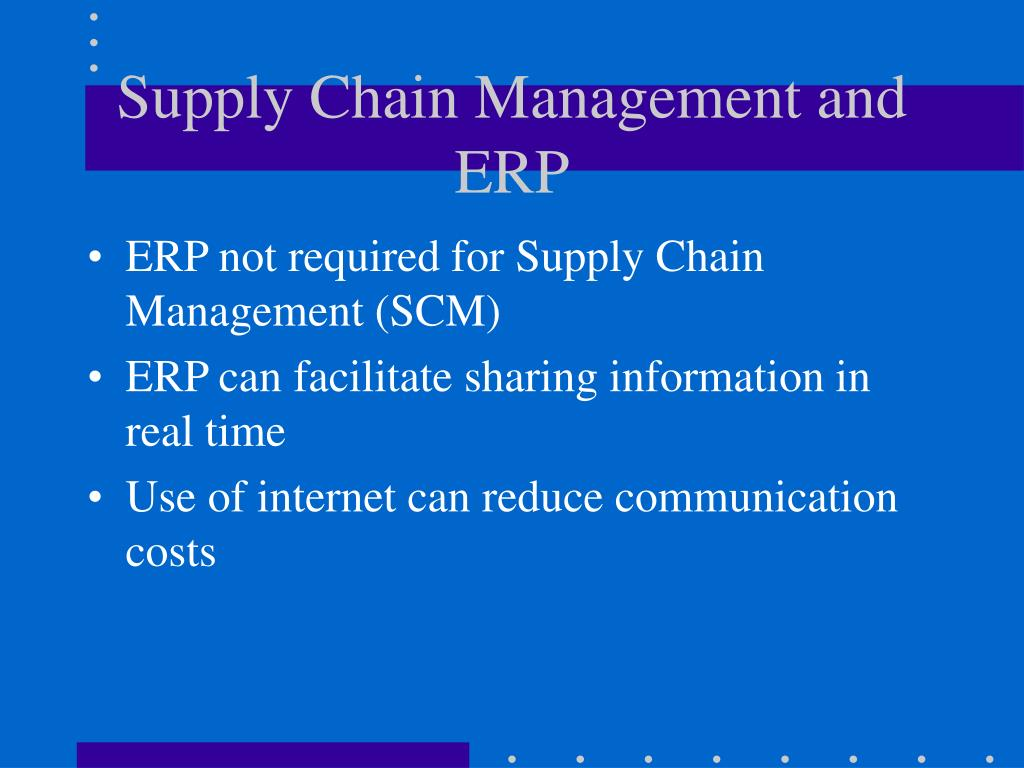 erp supply chain management One such question is on supply chain management software tools versus enterprise resource planning or erp software products what is the difference between supply chain management and erp compare top supply chain management software leaders.