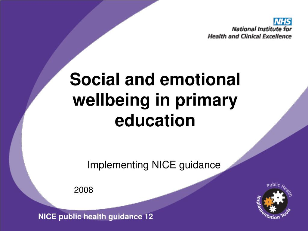 Social and emotional wellbeing in primary education