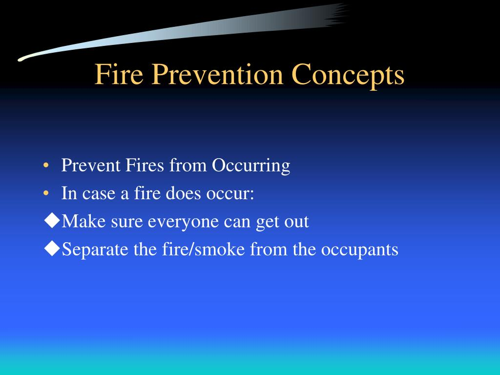 Fire Prevention Concepts