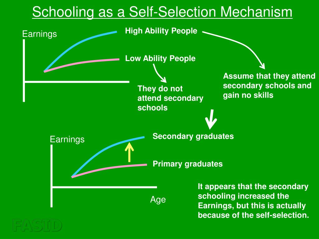 Schooling as a Self-Selection Mechanism
