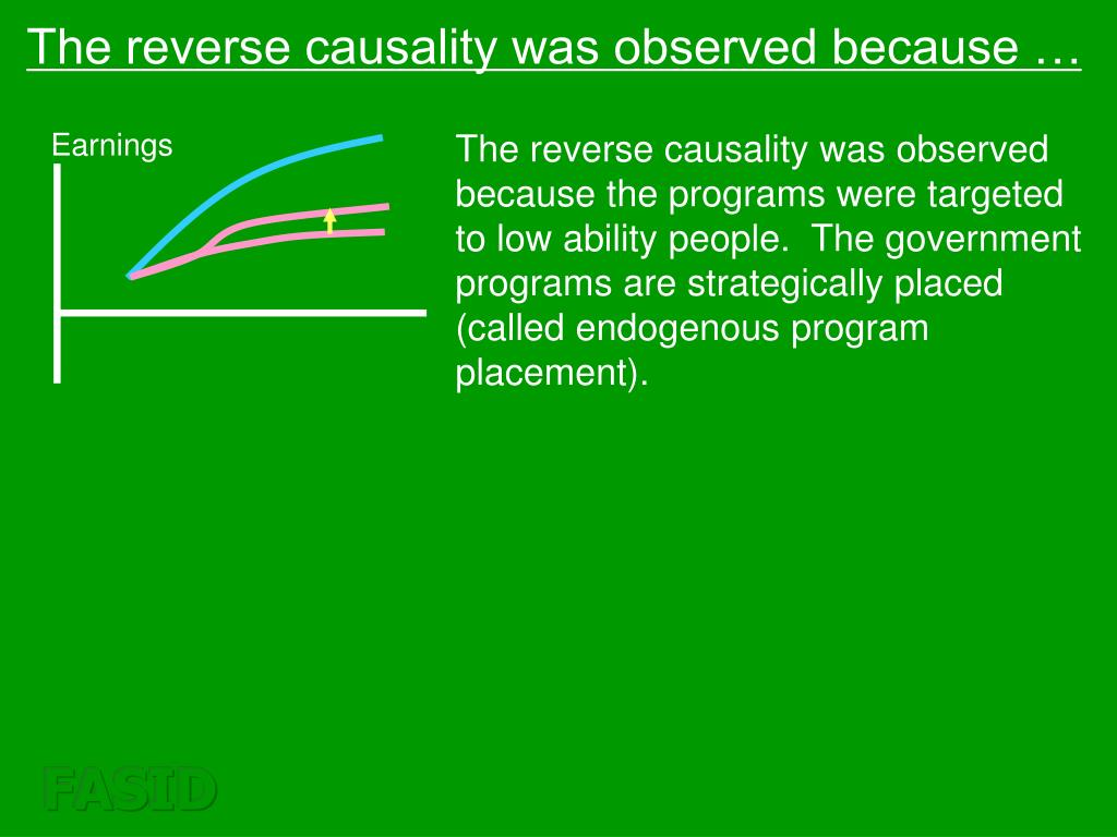 The reverse causality was observed because …
