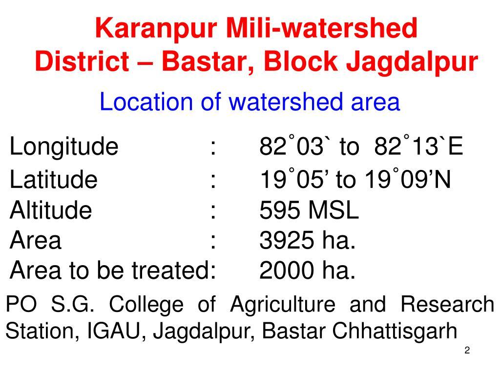 Karanpur Mili-watershed