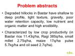 problem abstracts