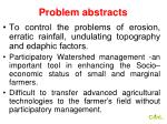 problem abstracts4
