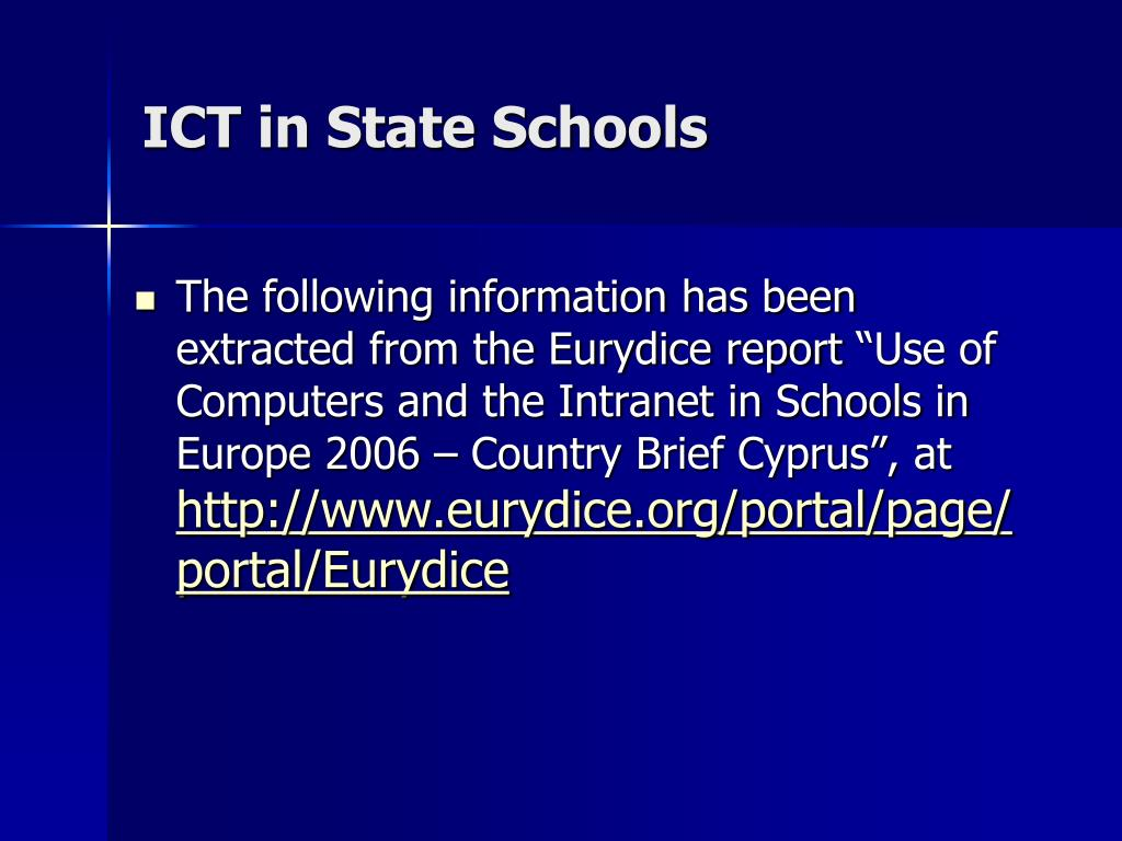 ICT in State Schools