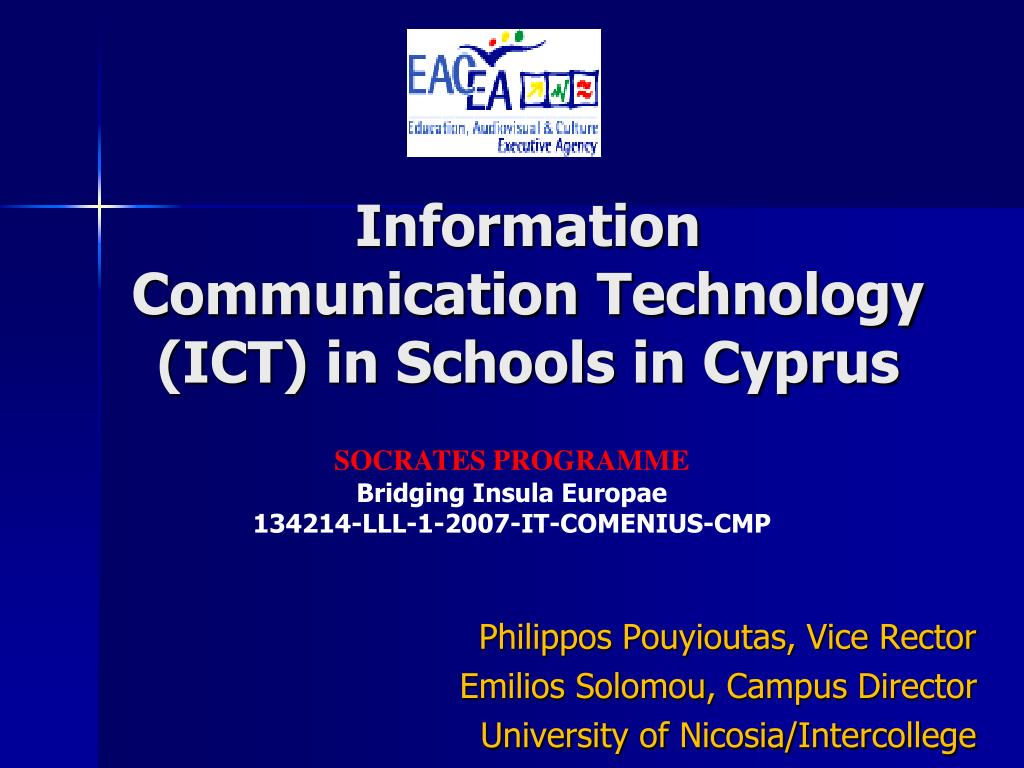 Information Communication Technology (ICT) in Schools in Cyprus
