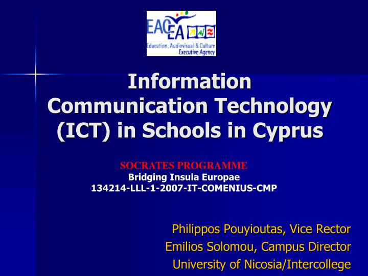 Information communication technology ict in schools in cyprus