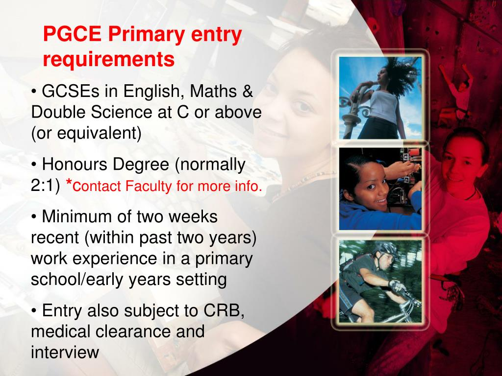 PGCE Primary entry requirements