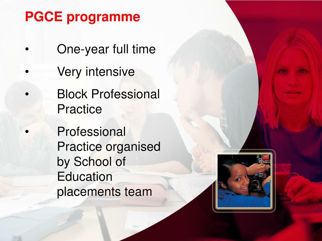 PGCE programme