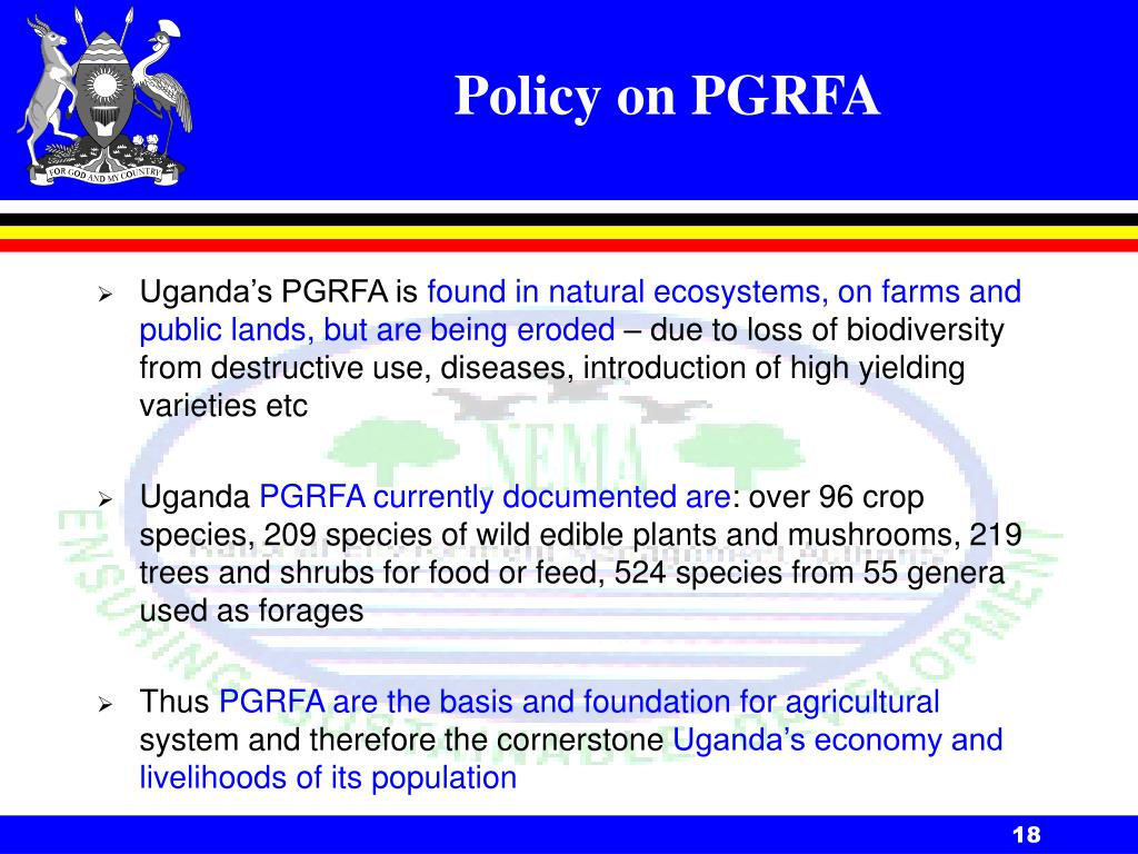 Policy on PGRFA