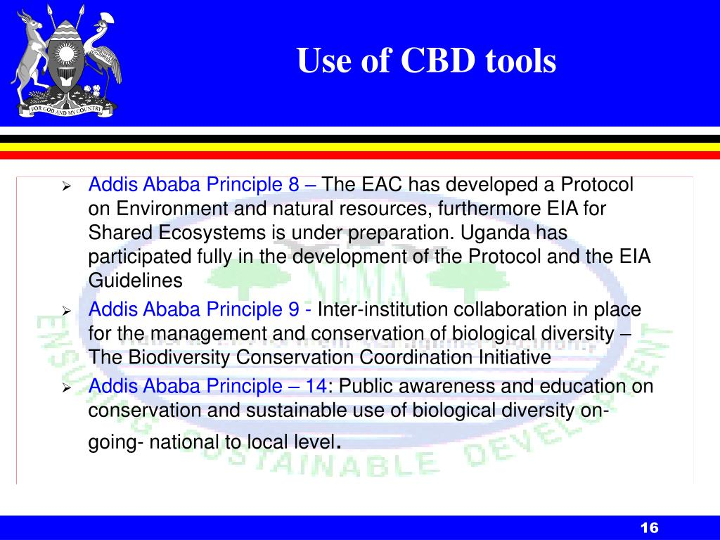 Use of CBD tools