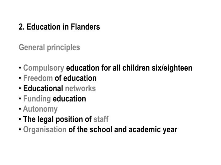 2. Education in Flanders