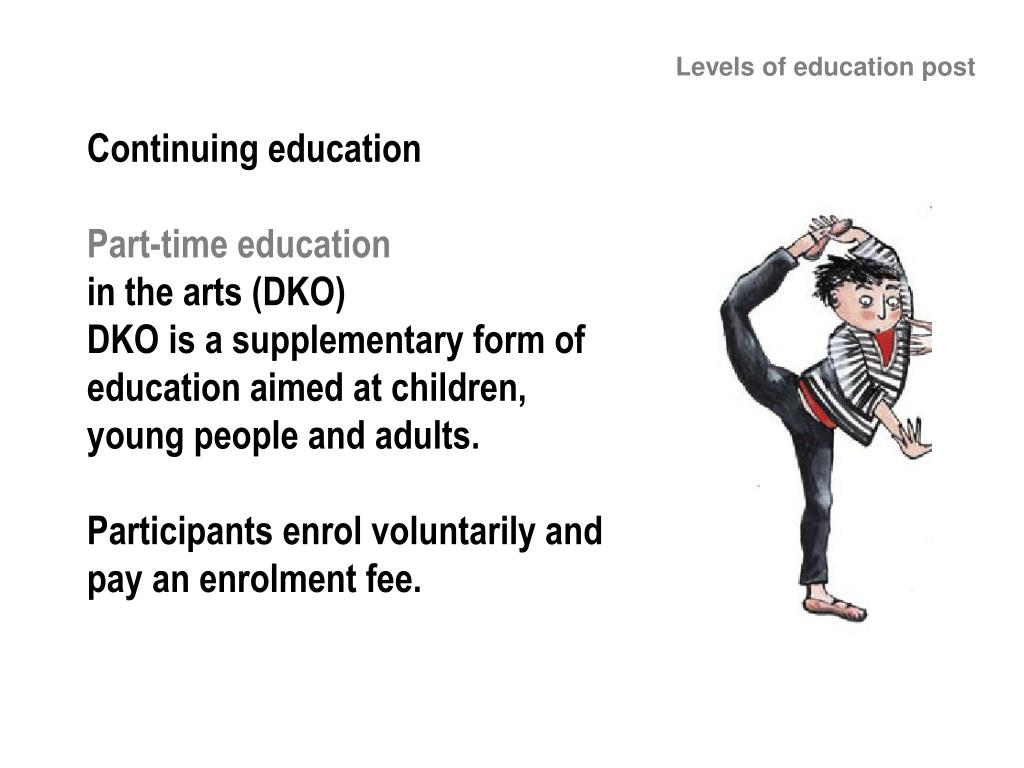 Levels of education post