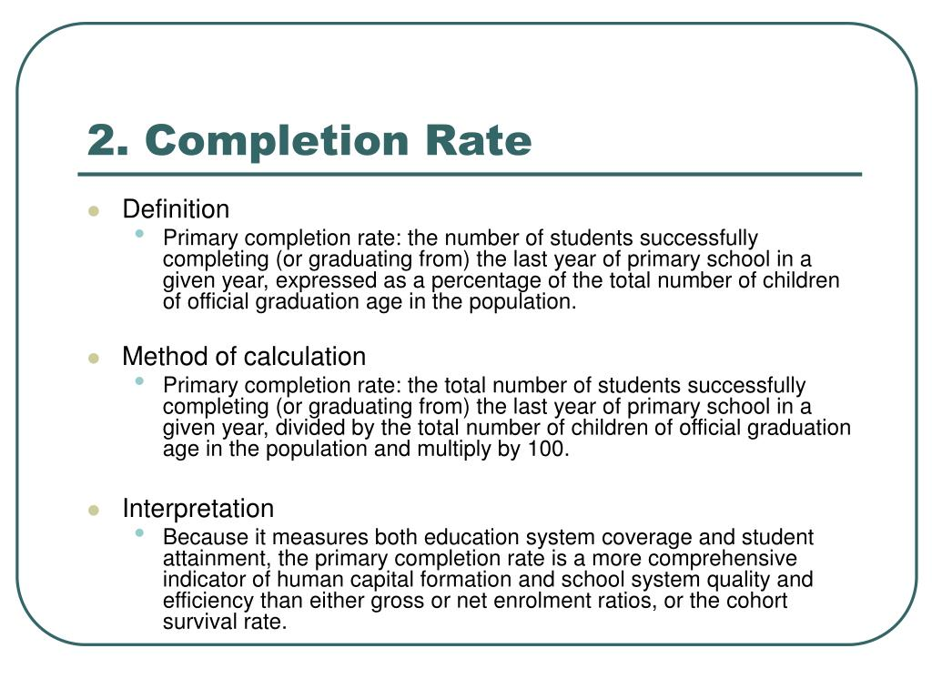 2. Completion Rate