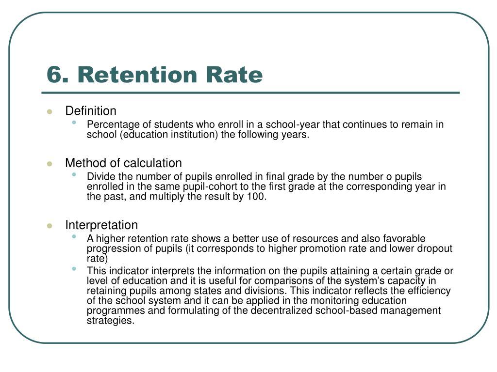 6. Retention Rate