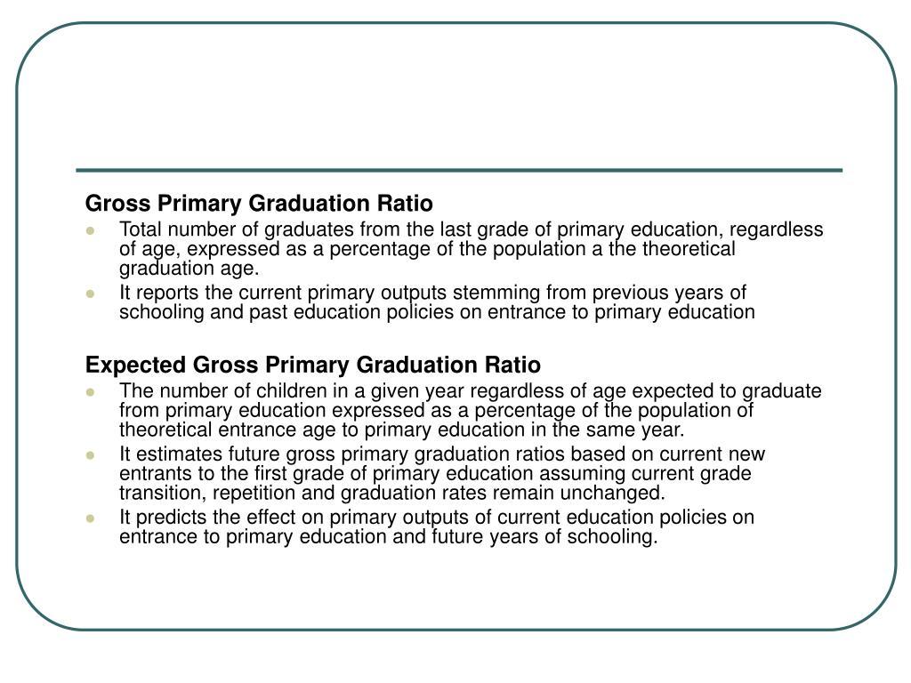 Gross Primary Graduation Ratio