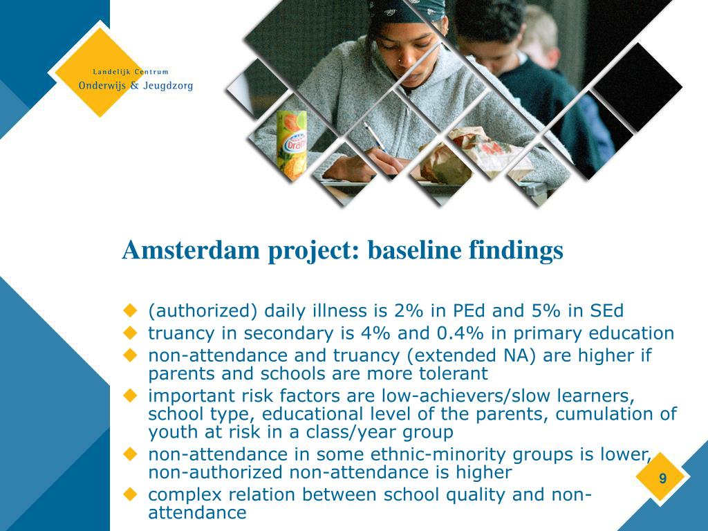 Amsterdam project: baseline findings