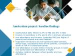 amsterdam project baseline findings9