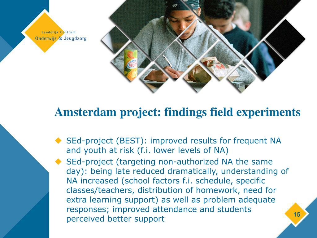Amsterdam project: findings field experiments