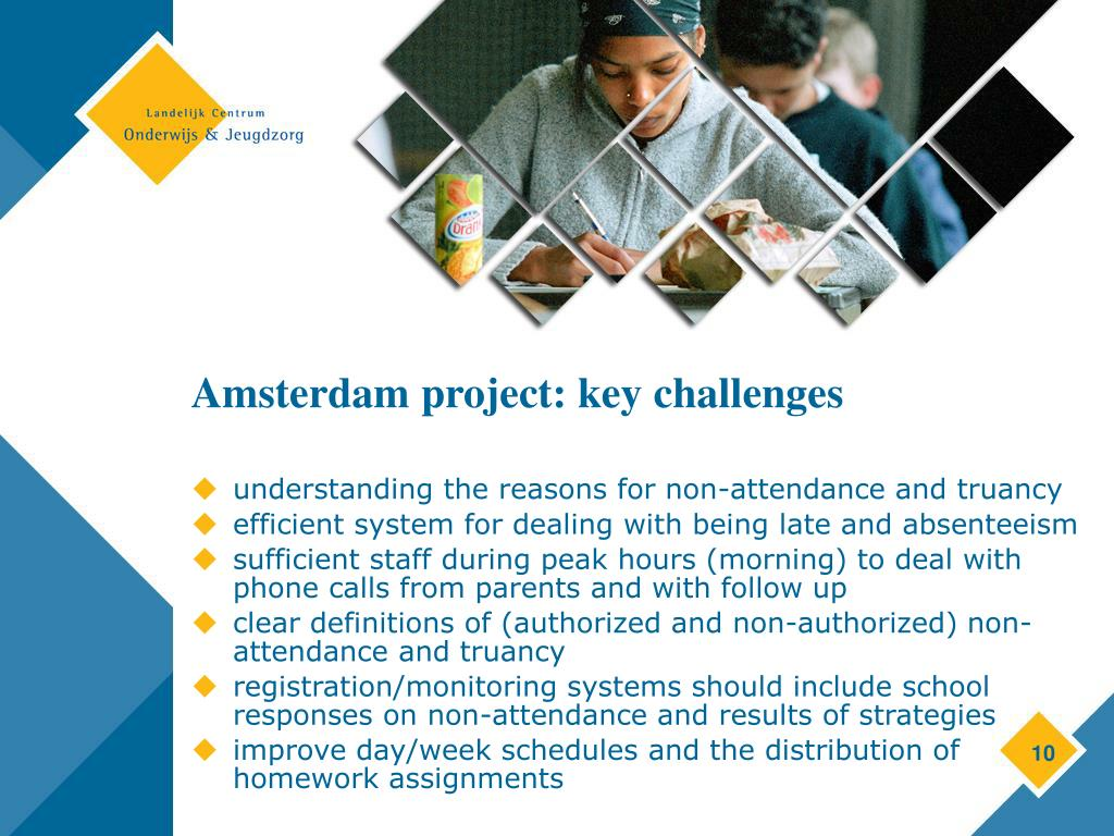 Amsterdam project: key challenges