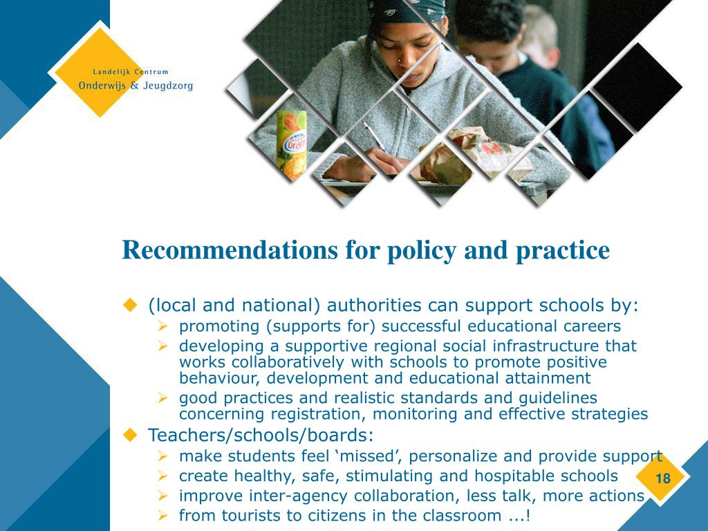 Recommendations for policy and practice