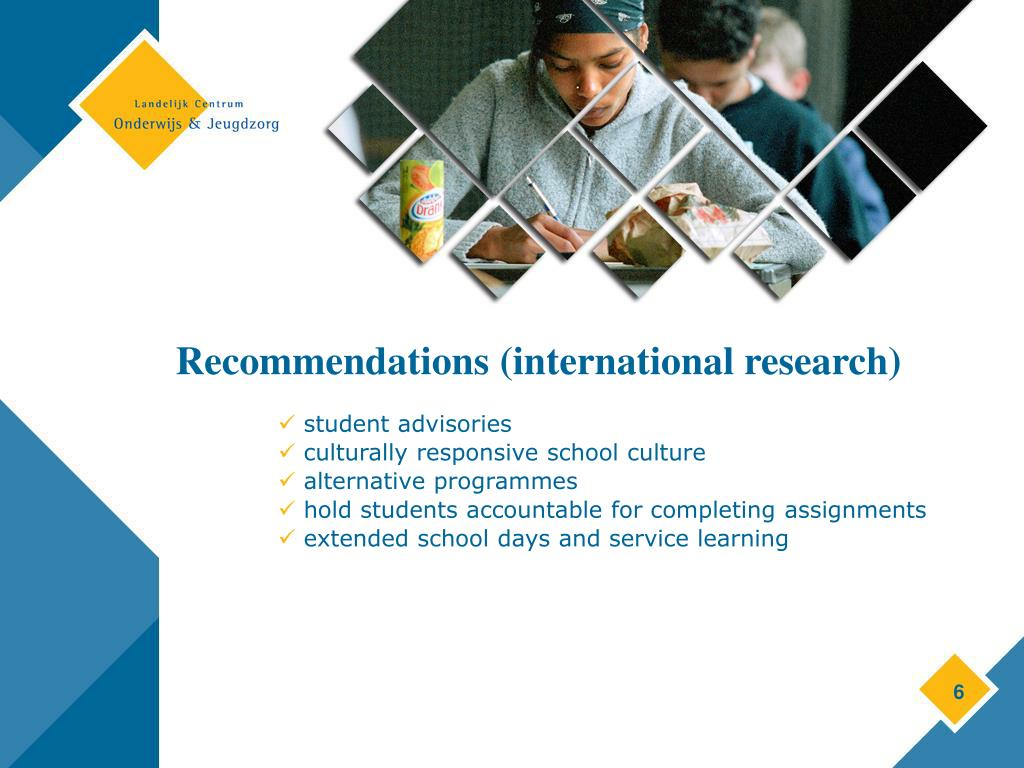 Recommendations (international research)