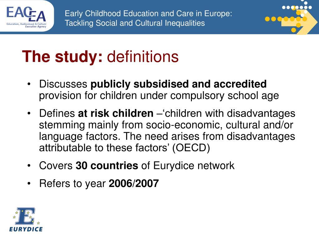 The study: