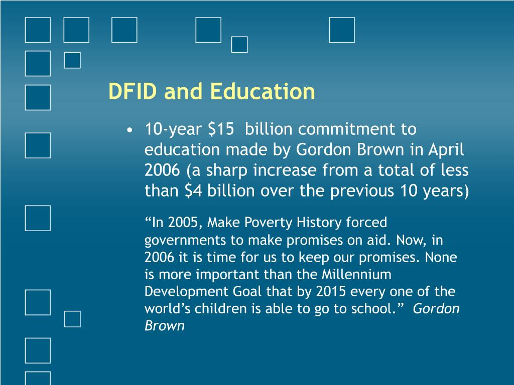 DFID and Education
