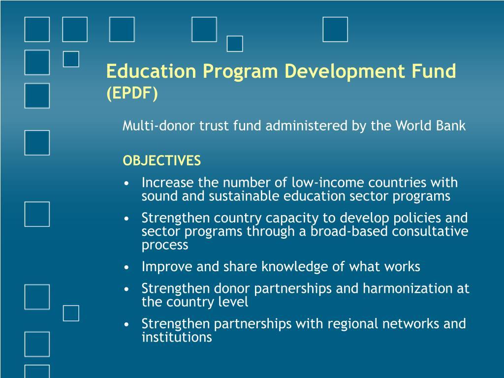 Education Program Development Fund