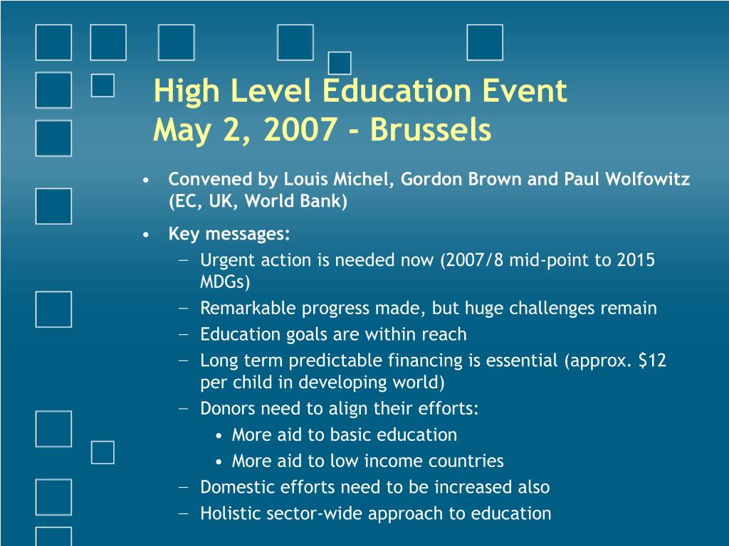 High Level Education Event