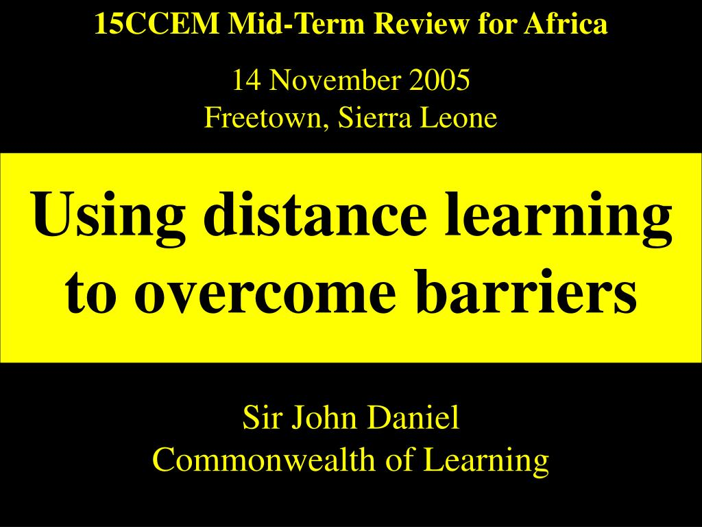 15CCEM Mid-Term Review for Africa