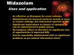 midazolam uses and application