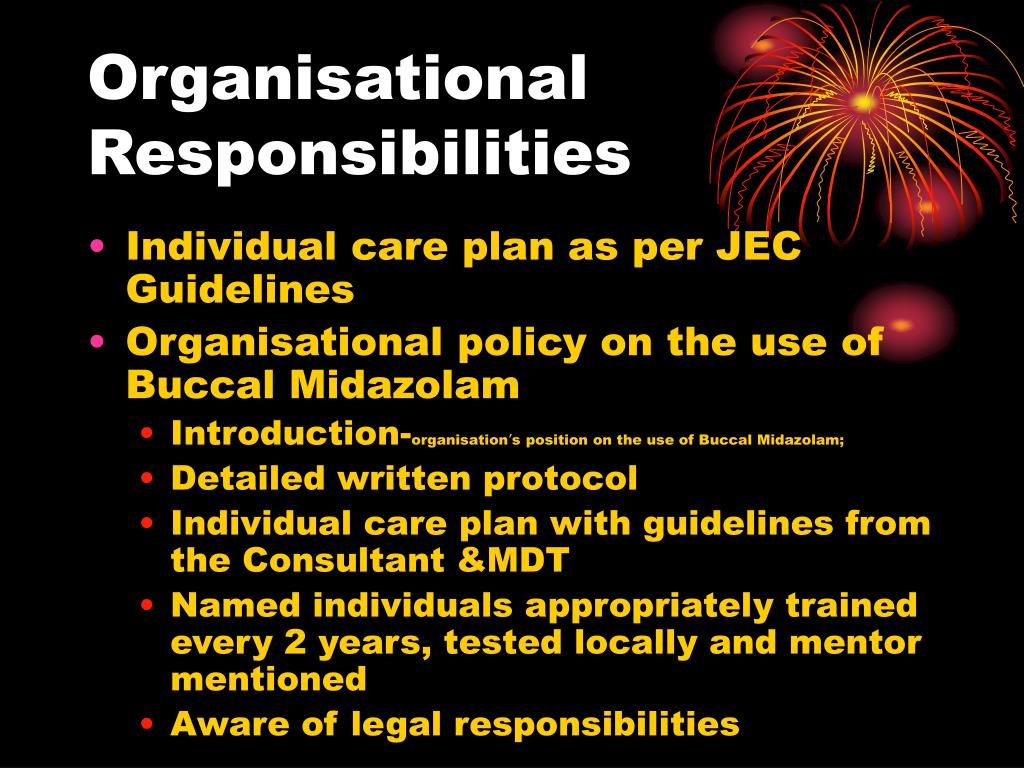 Organisational Responsibilities