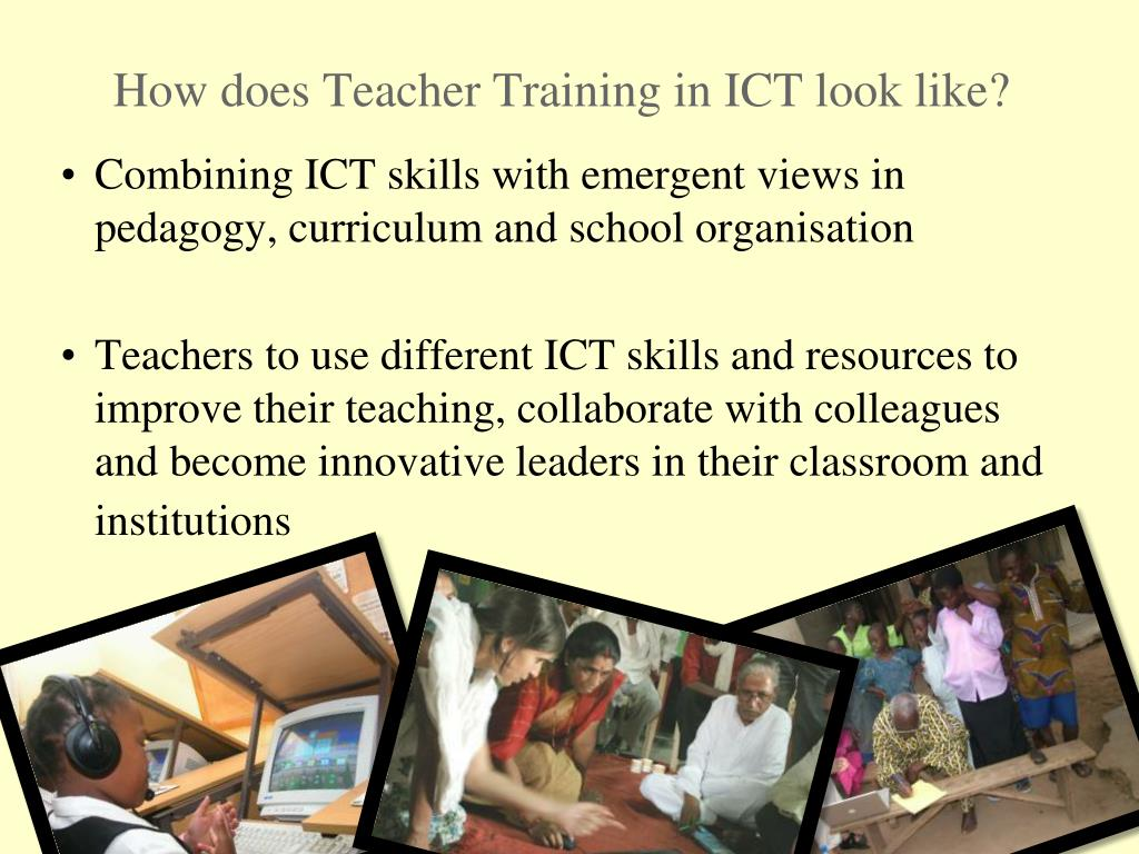 How does Teacher Training in ICT look like?