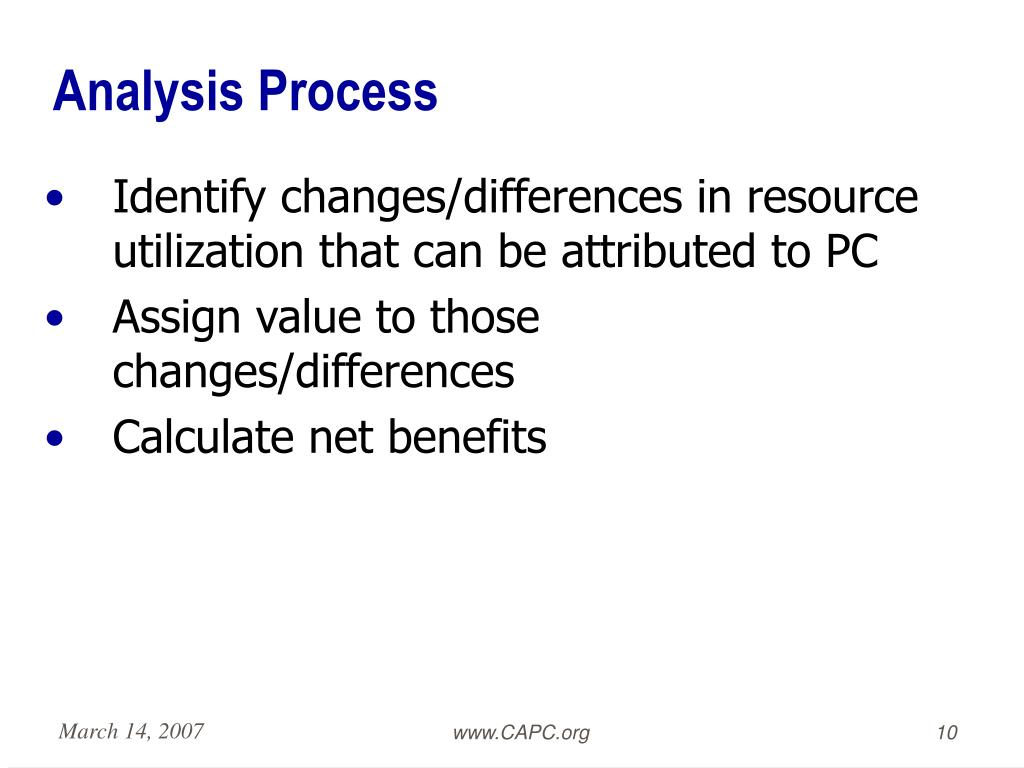 Analysis Process