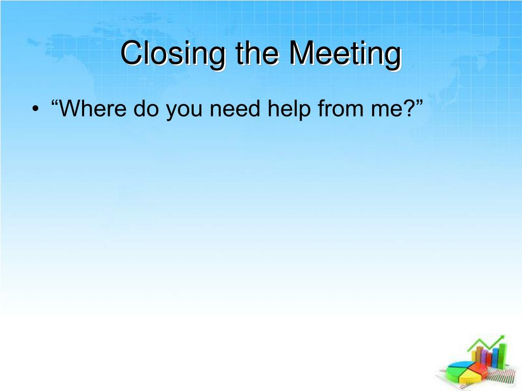 Closing the Meeting