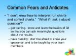 common fears and antidotes31