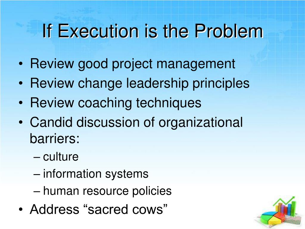 If Execution is the Problem