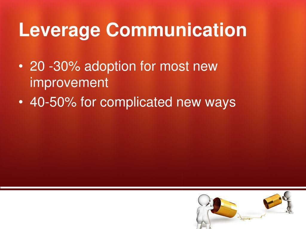 Leverage Communication
