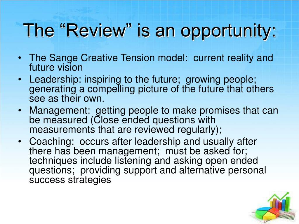 "The ""Review"" is an opportunity:"