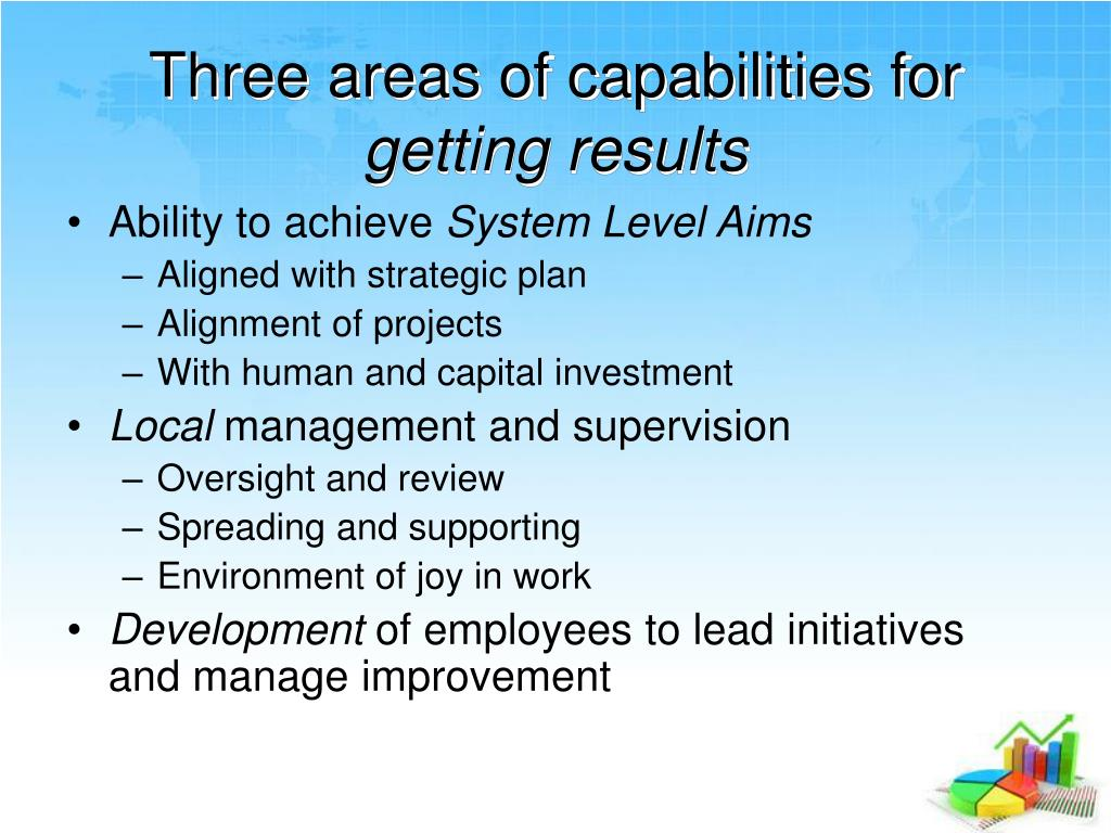 Three areas of capabilities for