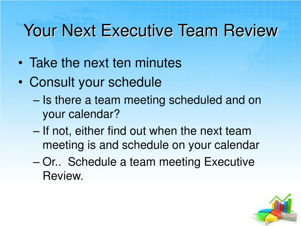 Your Next Executive Team Review