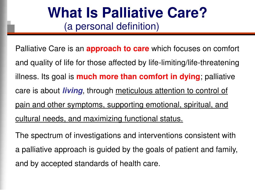 What Is Palliative Care?