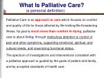 what is palliative care4
