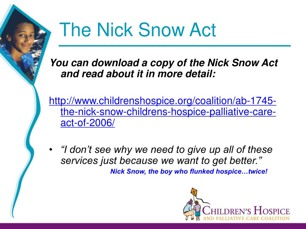 The Nick Snow Act