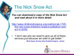 the nick snow act30